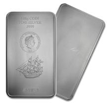 One piece 500 gram 0.999 Fine Silver Bar Cook Islands Bounty