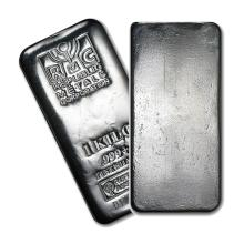 One piece 1 kilo 0.999 Fine Silver Bar Republic Metals Corporation