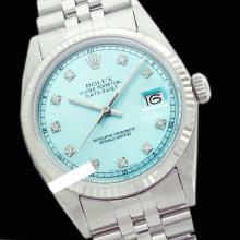 Rolex Ladies Stainless Steel, Diamond Dial Fluted Bezel, Saph Crystal - REF#261K8A