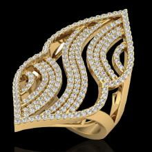Natural 2.0 CTW Micro Pave Diamond Certified Designer Ring 14K Yellow Gold - 20870-REF#121Y7V