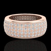 Natural 2.50 CTW Micro Pave Diamond Eternity Bridal B& Ring 14K Gold Size 7.5 - 20882-REF#138T2X
