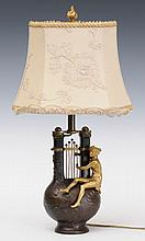 French Bronze Figural Lamp