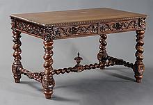 Renaissance Revival Mahogany Library Table