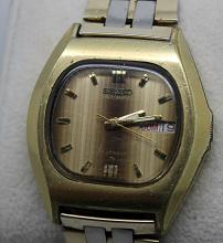 Vintage Mens Seiko Automatic Day Date Spanish Watch