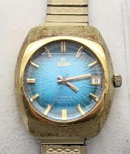 Elgin Automatic Mens Vintage Watch Starburst Dial