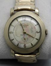 Harman Precise-o-matic Vintatge Gold Tone Mens Watch