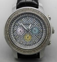 Don&Co Mens Bling Iced out Diamond Watch