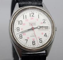 Seiko Quartz Day Date Watch Railroad Approved