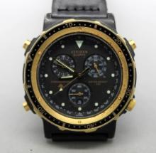 Citizen Quartz Triple Register Chronograph gn-4-s Watch