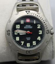 Swiss Military 50m Mens Quartz Watch Running