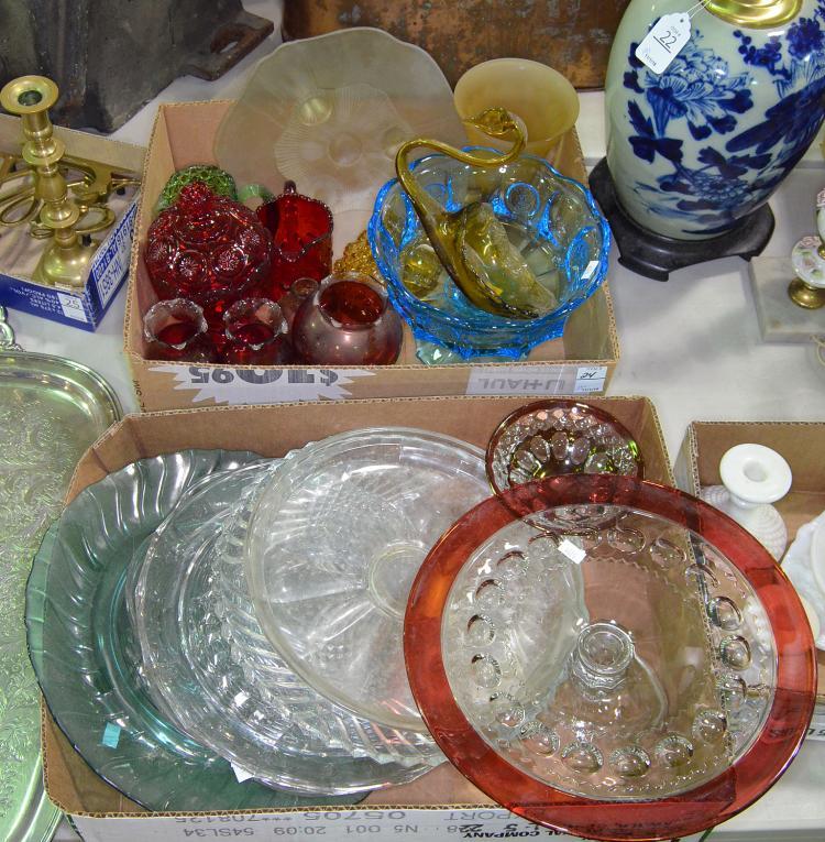 Two Bxs Colored Glassware