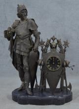 Figural Oversized Mantle Clock
