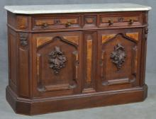 Victorian Marble-Top Dining Sideboard
