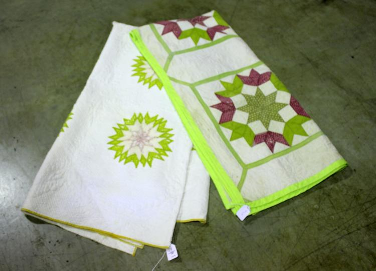 Two Hand Stitched Quilts