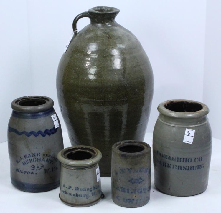 Five Pcs Stoneware