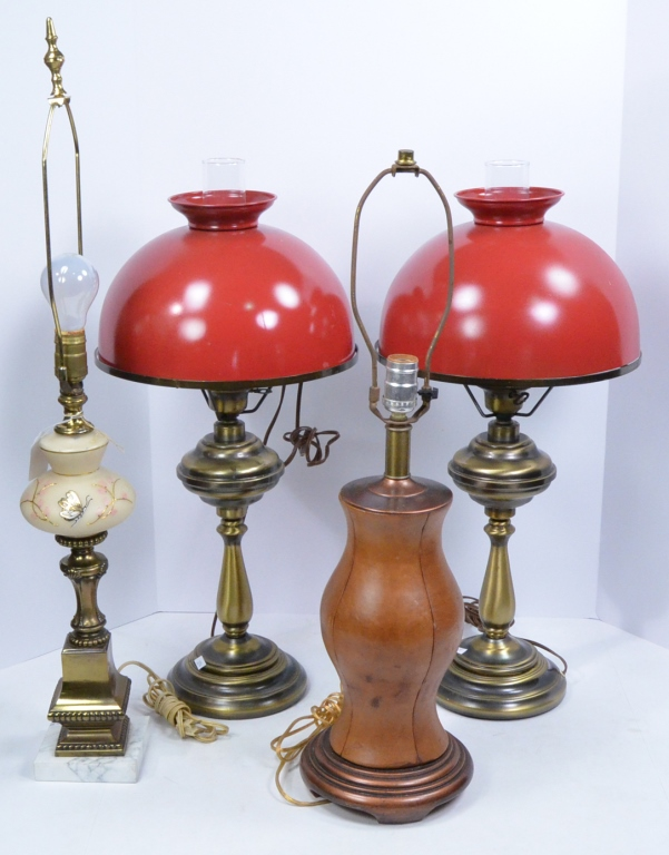 Four Table Lamps