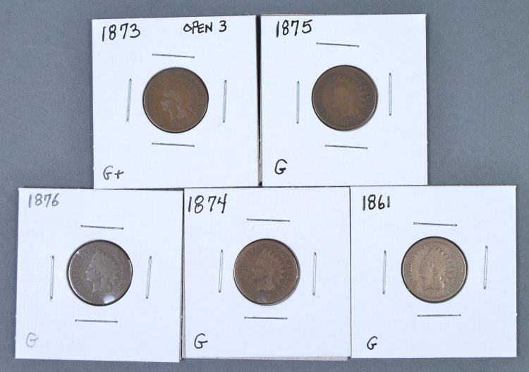 Five Better Date Indian Cents