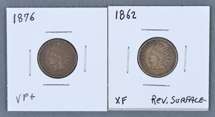 Two Better Date/Grade Indian Cents