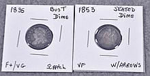Two Obsolete Dimes