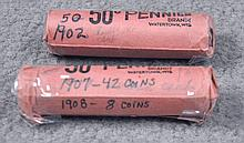 Two Rolls of Indian Cents