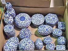 Bx Decorative Blue & White Boxes