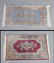 Two Wool on Cotton Chinese Scatter Rugs
