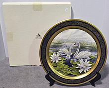Transfer Pickard Plate with Swans