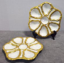 Two Oyster Plates