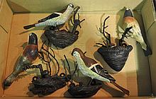 Bx Four Life Size Cast Iron Birds