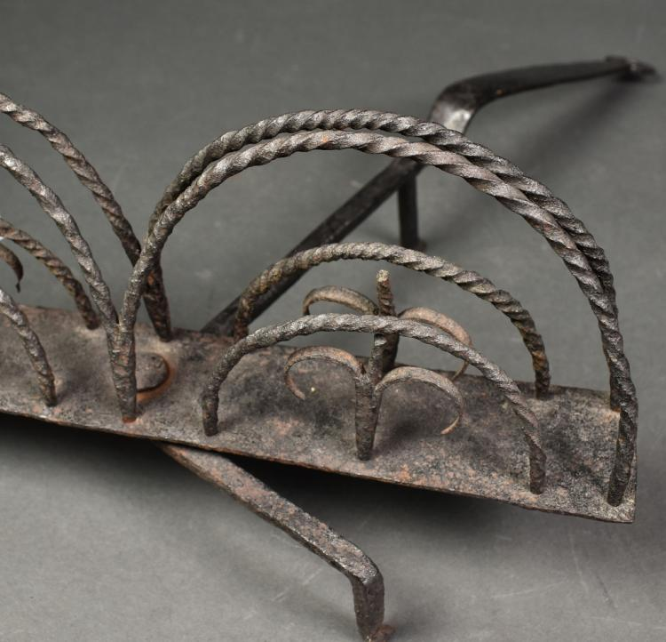 Early Blacksmith-Made Wrought Iron Toaster