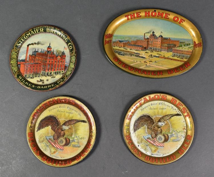 Four Early Beer Pin Trays