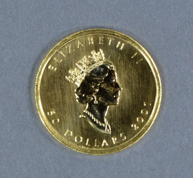 2001 Canadian 1 oz. Gold Maple Leaf Coin