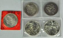 Five Silver Dollars