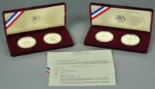 Two Olympic Coin 2-Coin Proof Sets