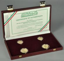 1986 Mexican World Cup 4 Piece Gold Proof Set