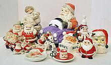 Two Bxs Ceramic Santa Claus