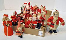 Bx Vintage Santa Claus Figures