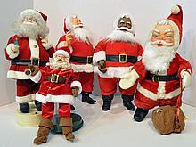 Bx Five Santa Figurines