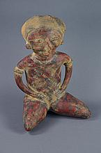 Large Pre-Columbian Style Pottery Figure