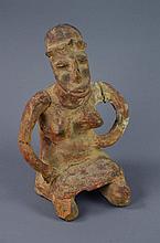Large Pre-Columbian Style Pottery Female Figure