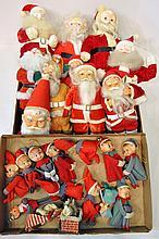 Two Bxs Santa & Elf Figurines