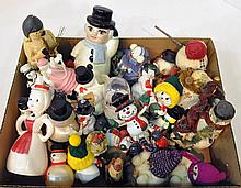 Bx Snowmen Figurines