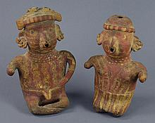 Two Pre-Columbian Style Pottery Figures