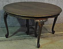 Walnut Circular Expanding Dining Table