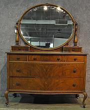 Walnut Veneer Dresser