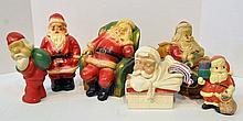 Bx Six Chalkware Santas