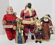 Bx Five Santa Figures