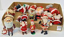 Bx Vintage Santa Figurines