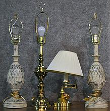 Group of Four Table Lamps