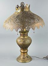 Middle Eastern Style Brass Table Lamp